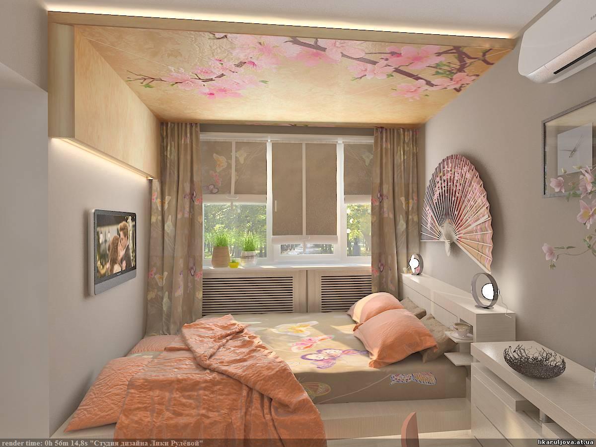 Подиум в спальне, кровать, кладовка, место для 67